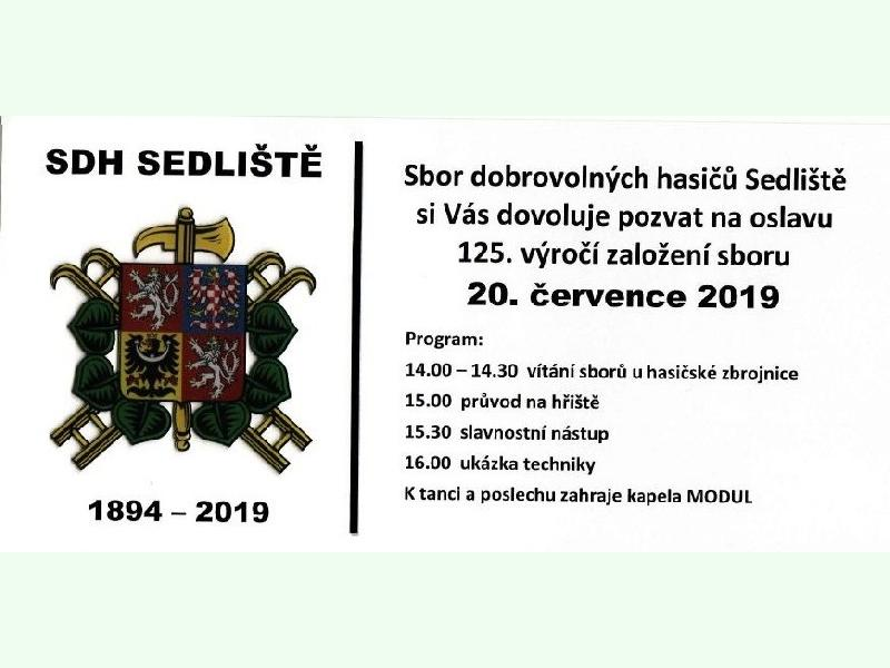 SDH Sedliště - 125. výročí